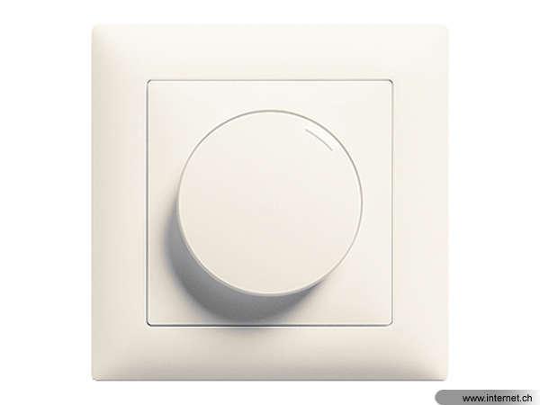 Feller Drehdimmer UP EDIZIOdue LED 200 W Universal, Bauform: Kompletset,  Dimmbare Produkte: Glühlampen; Dimmbare LED Lampen; Hochvolt Halogenlampen;  ...
