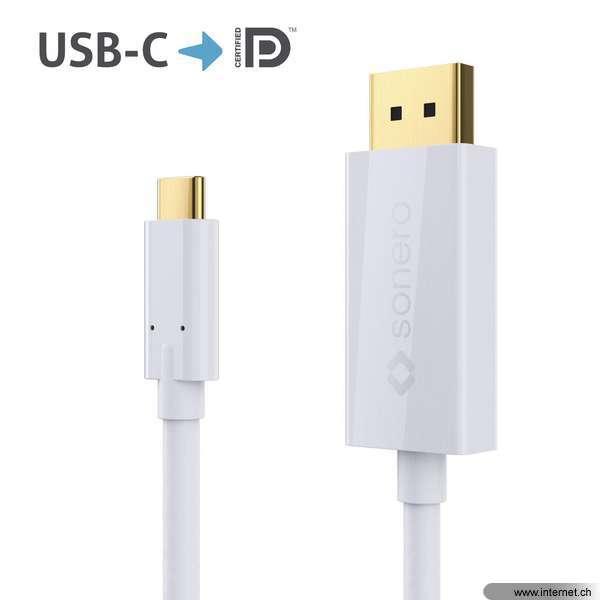 sonero Kabel USB Type-C - DisplayPort, 1.5 m, Typ: Anschlusskabel ...