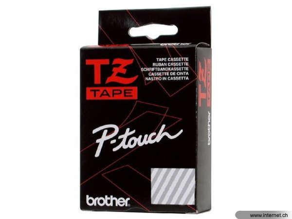 klar BROTHER P-touch Schriftband TZe145 TZe-145 weiß a